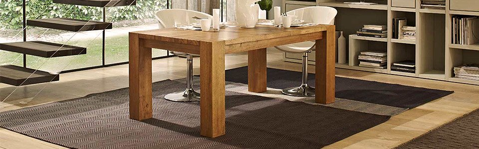 Tavoli da pranzo in legno | Arredamento online Abitastore